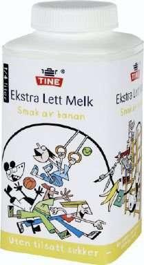 Prøv også Tine Ekstra Lett Melk med smak av banan.