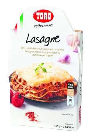 Prøv også Toro Velbekomme Lasagne.