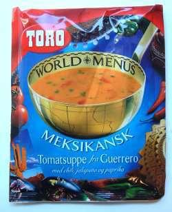 Prøv også Meksikansk tomatsuppe fra Guerrero med chili, jalapeno og paprika.