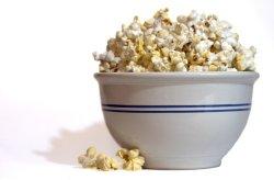 Prøv også Popcorn, poppet i mikrobølgeovn.