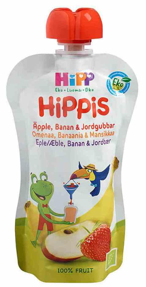 Bilde av HiPP smoothie, eple, banan og jordbær, fra 6 mnd.