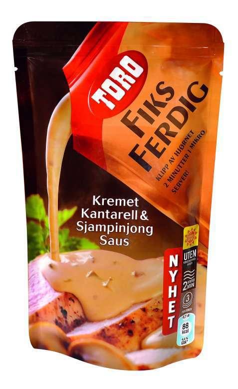 Bilde av Toro fiks ferdig kremet kantarellsaus.