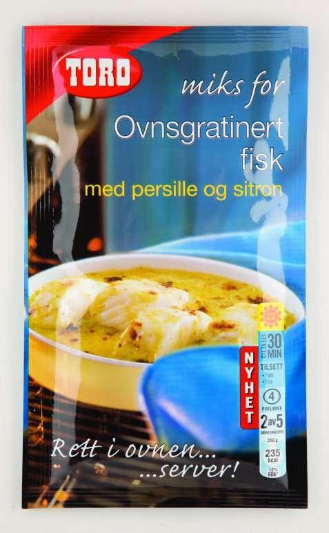 Bilde av Toro miks for ovnsgratinert fisk med persille og sitron.