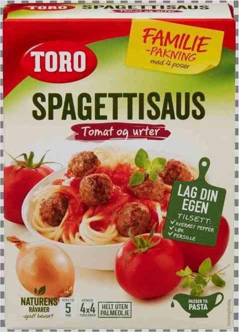 Bilde av Toro spagettisaus økonomi.