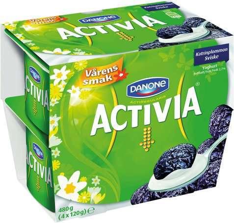 Bilde av Danone Activia yoghurt sviske.
