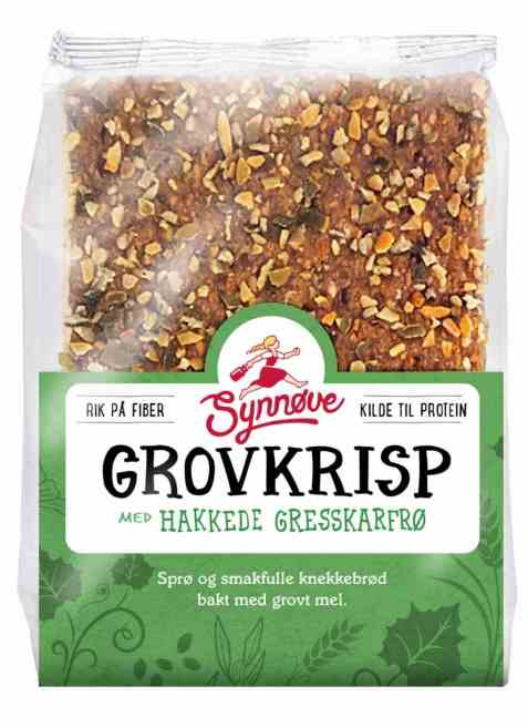Bilde av Synnøve Grovkrisp med Hakkede Gresskarfrø Sesamfrø og Linfrø.