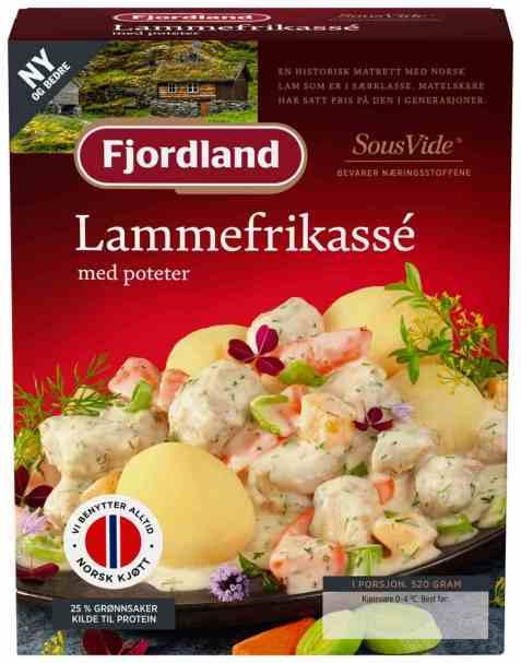 Bilde av Fjordland lammefrikasse med poteter.