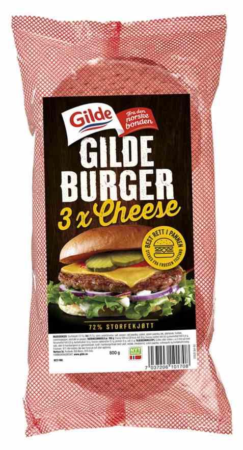 Bilde av Gilde cheeseburger fryst.