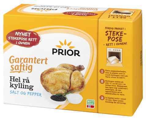 Bilde av Prior garantert saftig hel kylling i stekepose.