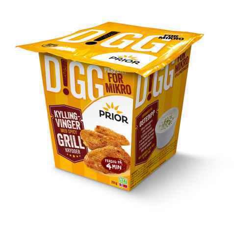 Bilde av Prior digg kyllingvinger spicy grillkrydder.
