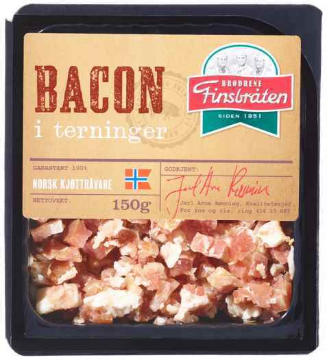 Bilde av Finsbråten bacon i terninger.
