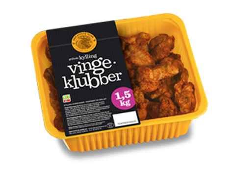 Bilde av Den stolte hane grillede kylling vingeklubber.