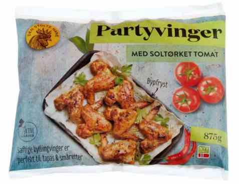 Bilde av Den stolte hane grillede vingeklubber soltørket tomat.
