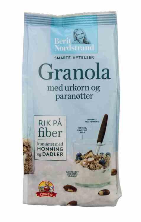 Bilde av Synnøve granola med urkorn og paranøtter.