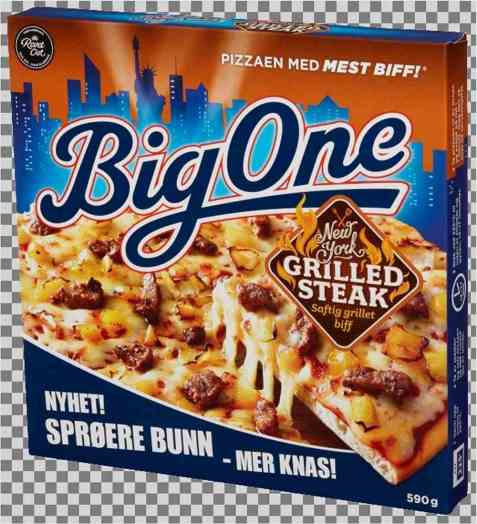 Bilde av Big One New York grilled steak.