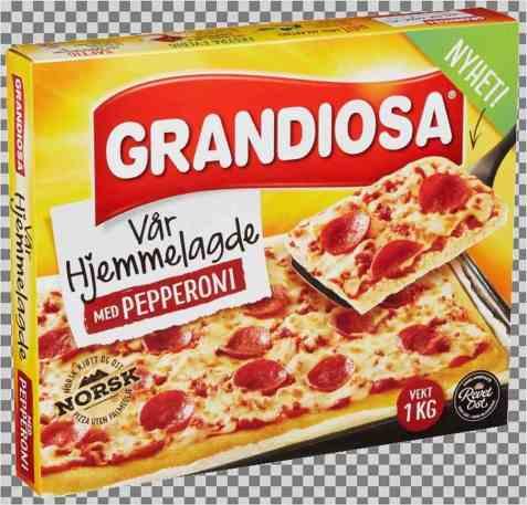 Bilde av Grandiosa Vår Hjemmelagde med pepperoni.