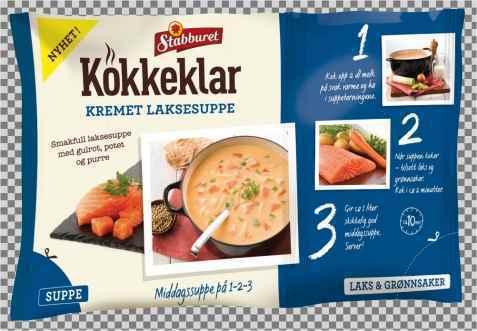 Bilde av Stabburet kokkeklar laksesuppe.