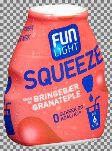 Bilde av Fun Light squeeze bringebær.