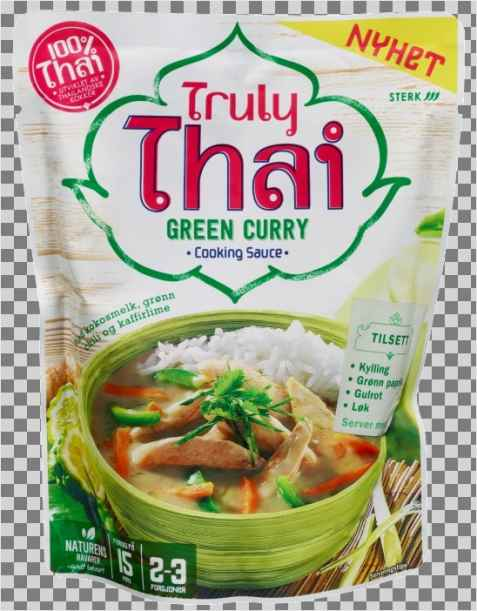 Bilde av Truly thai green curry cooking sauce.