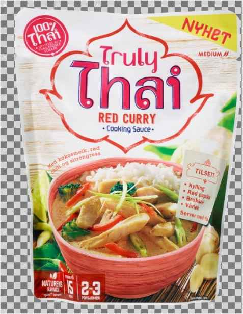 Bilde av Truly thai red curry cooking sauce.