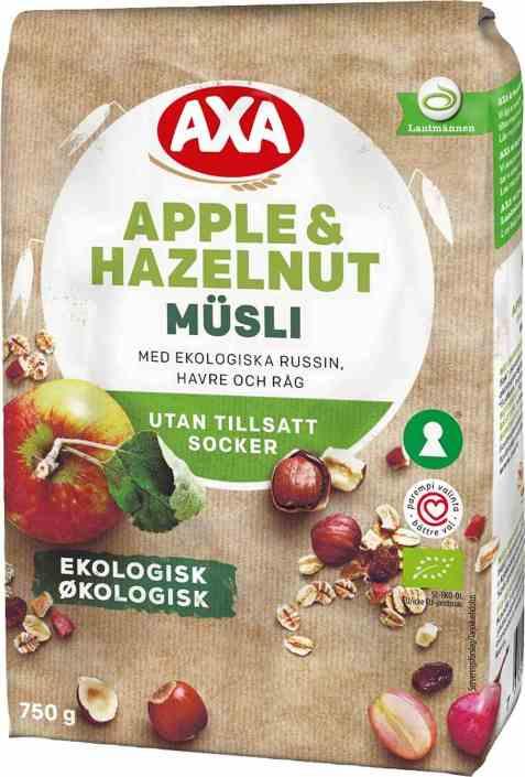 Bilde av Axa økologisk frukt og nøttemusli.