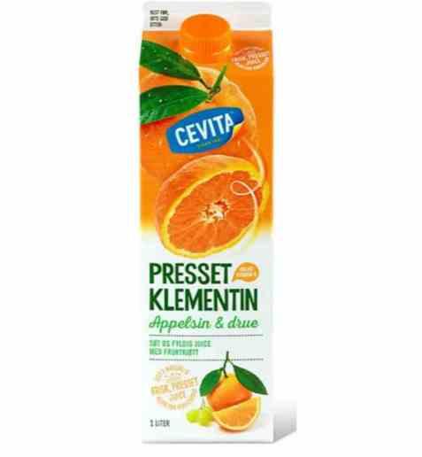 Bilde av Cevita classic klementinjuice med appelsin og drue.