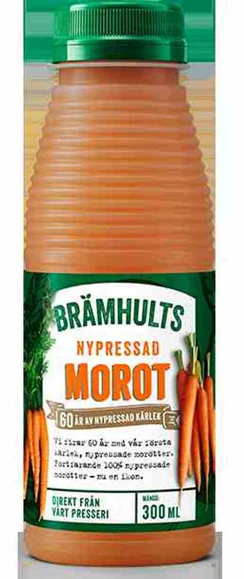 Bilde av Bramhults nypresset gulrotjuice.