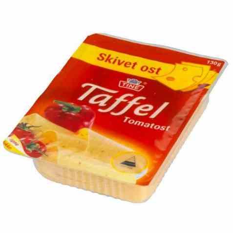 Bilde av TINE Taffel Tomatost i skiver.