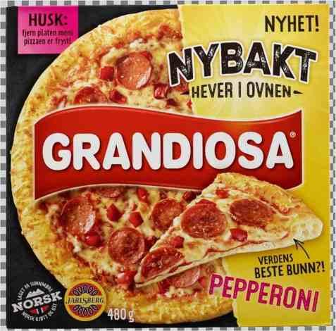 Bilde av Grandiosa nybakt pepperoni.