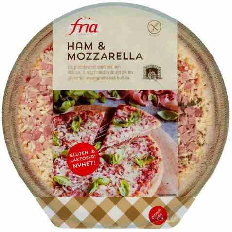 Bilde av Fria Pizza skinke og mozzarella.