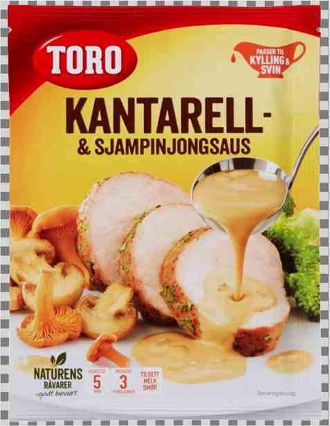 Bilde av Toro kantarell og sjampinjongsaus tilberedt.