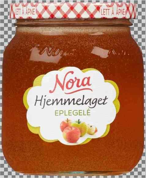 Bilde av Noras hjemmelaget eplegele.