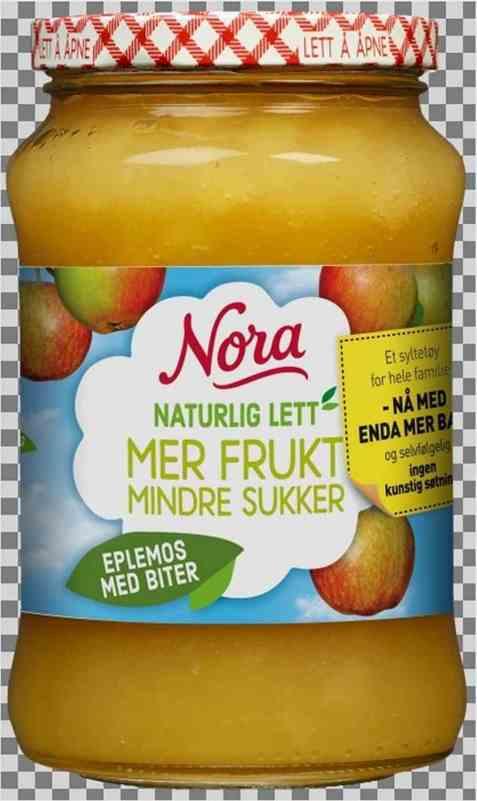 Bilde av Nora Naturlig lett eplemos med biter.